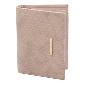 Бумажник водителя Nice, глянцевая кожа, цвет розовый крокодил
