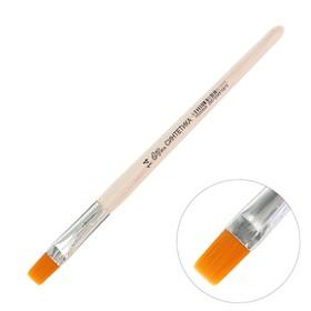Кисть Синтетика Плоская №14 (ширина обоймы 14 мм; длина волоса 16 мм), деревянная ручка, Calligrata - фото 7383744