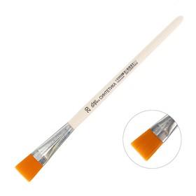 Кисть Синтетика Плоская №20 (ширина обоймы 20 мм; длина волоса 20 мм), деревянная ручка, Calligrata