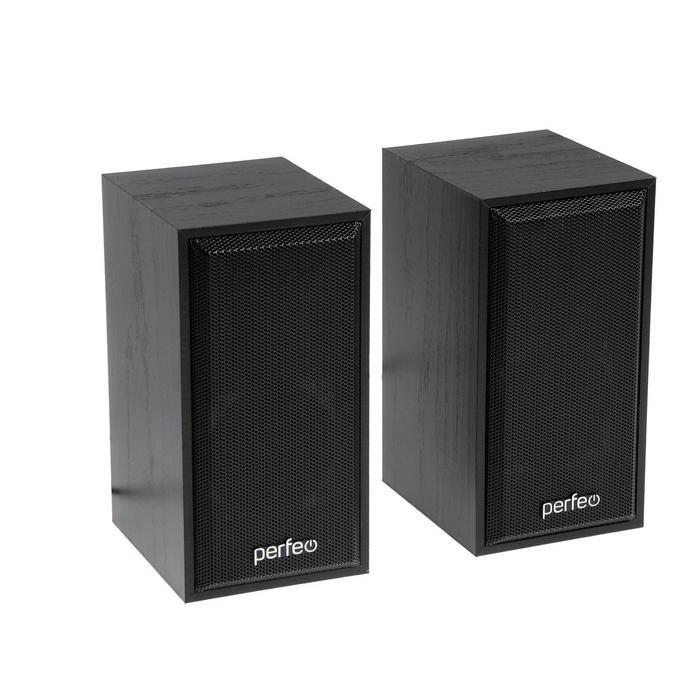 Компьютерные колонки 2.0 Perfeo CABINET PF-84, 2х3 Вт, USB, черное дерево