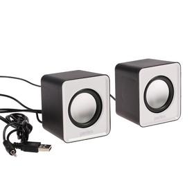 Computer speakers 2.0 Perfeo WAVE PF-128-W, 2x3 W, USB, white