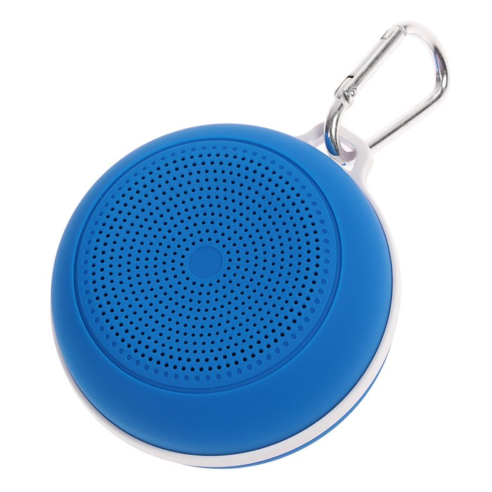 Беспроводная портативная колонка Perfeo SPOT, FM, MP3, microSD, AUX, 3 Вт, 500 мАч, синяя