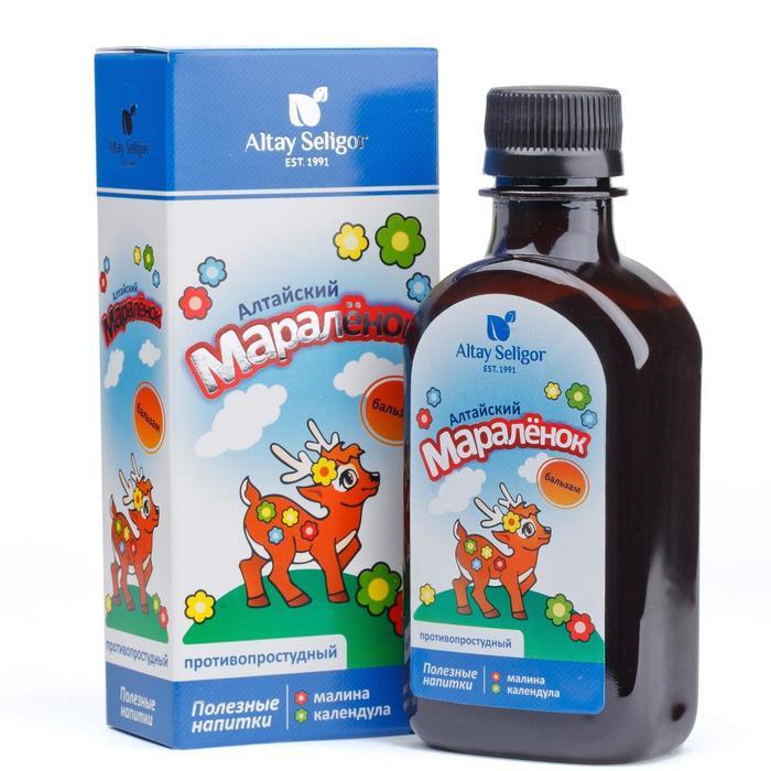 Бальзам Altay Seligor «Алтайский мараленок», противопростудный, для детей, 200 мл