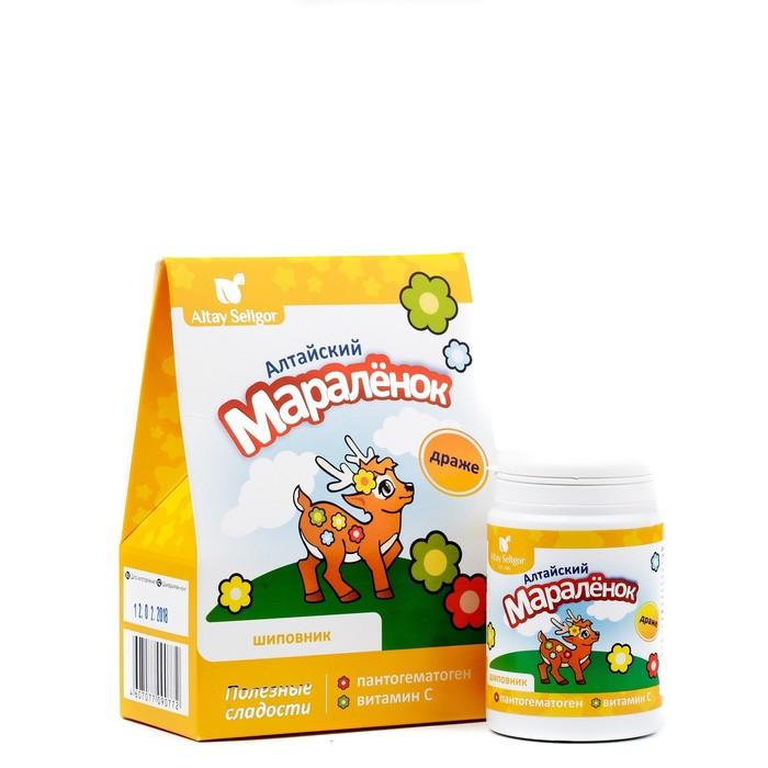 Драже для детей Altay Seligor «Алтайский маралёнок» с пантогематогеном, витамином С и шиповником, 70 г