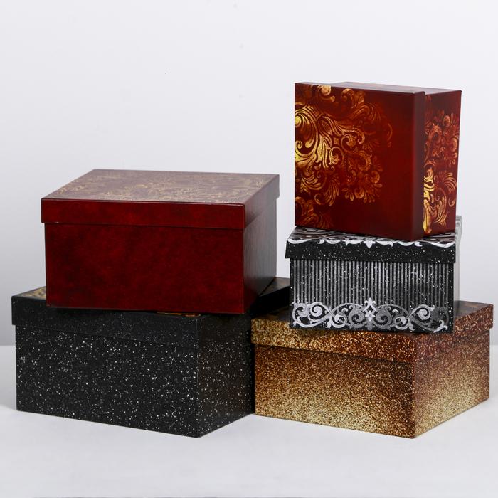 Набор подарочных коробок 5 в 1 «Роскошь», 14 × 14 × 8‒22 × 22 × 12 см