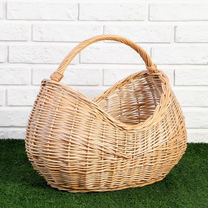 Корзина «Урожай», 45×28×19/29/39 см, ручное плетение, ива