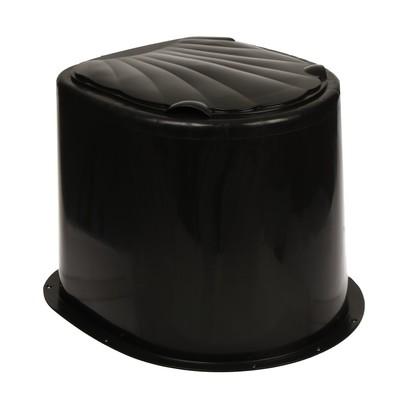 Туалет дачный, h = 35 см, без дна, с креплением к полу, чёрный