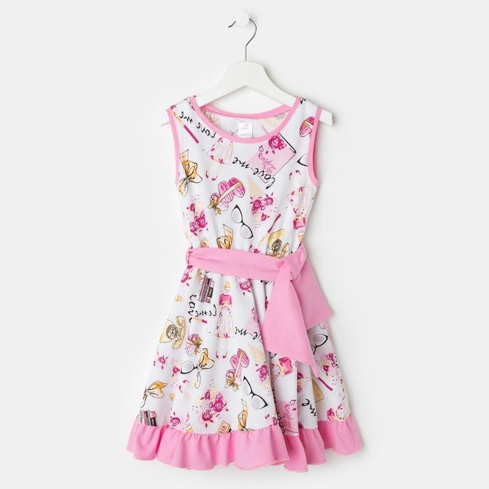 Платье «Кармен», цвет белый, рост 116 см - фото 105695674