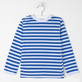 Лонгслив «Тельняшка», цвет белый/синий, рост 110 см