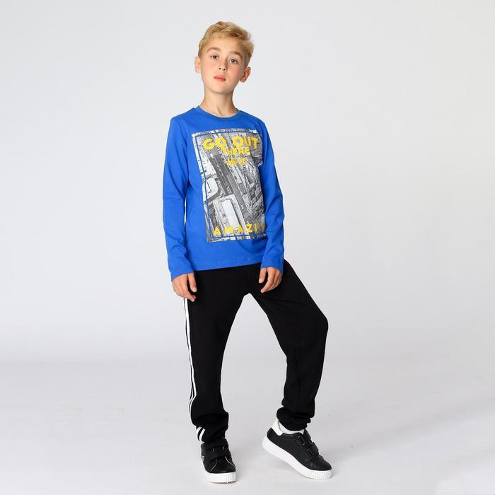 Брюки для мальчика «Школьник», чёрный, рост 128 см - фото 76625241