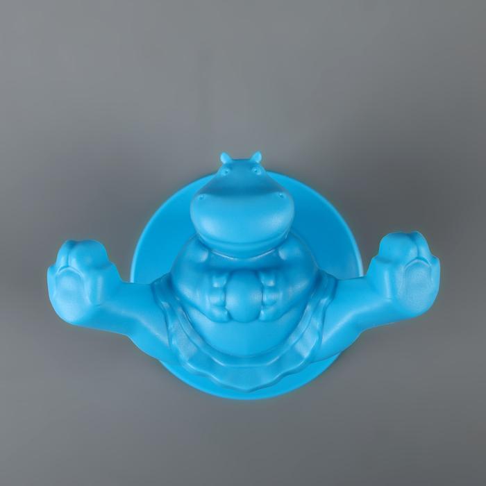 Крючок «Circus Hippo», 14,5 см, цвет голубой - фото 308330281