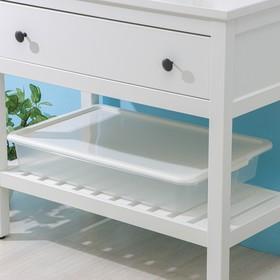 Контейнер для хранения с крышкой Porter, 18 л, 66×42×12 см, цвет слоновая кость