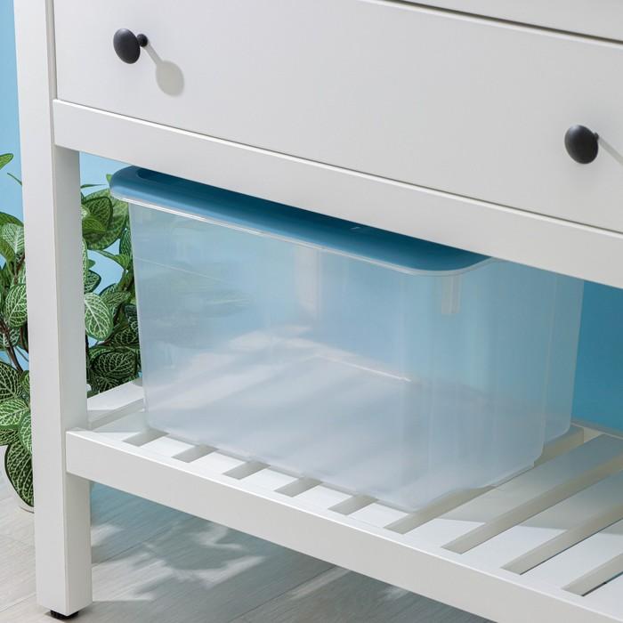 Контейнер для хранения с крышкой Porter, 21 л, 43×31,5×26,5 см, цвет васильковый - фото 308334712