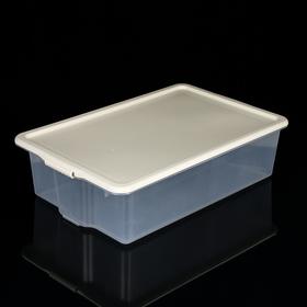 Контейнер для хранения с крышкой Porter, 32 л, 66×42×18 см, цвет слоновая кость