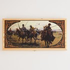 """Backgammon """"Cossacks"""", wood Board 40x40 cm, with the field for a game of checkers"""