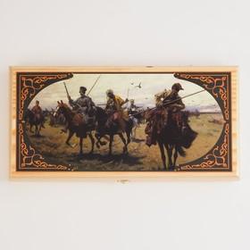 """Нарды """"Казаки"""", деревянная доска 40х40 см, с полем для игры в шашки в Донецке"""