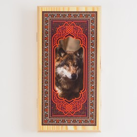 """Нарды  """"Волк"""", деревянная доска 40х40 см, с полем для игры в шашки в Донецке"""