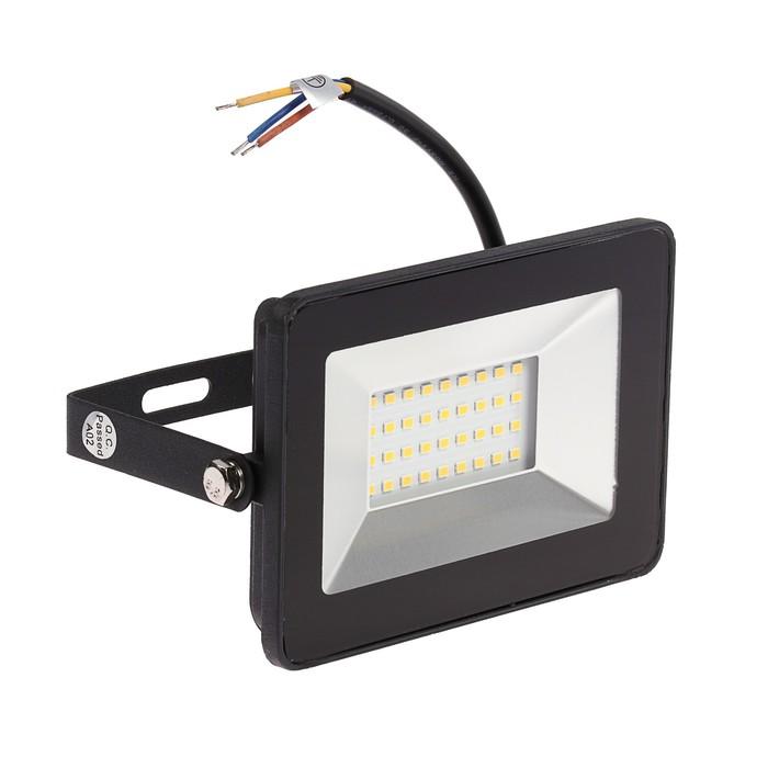 Светодиодный прожектор ЭРА LPR-30-4000К SMD Eco Slim, 30 Вт, 4000 К, 2100 Лм, 185х152х28мм