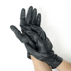 Nitrile gloves, powder-free, size XL, Black sapfir, 50 PCs/pack, color black