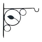 Кронштейн для цветов, 30 × 1 × 32 см, металл, чёрный