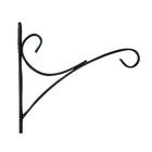 Кронштейн для цветов, 30 × 2 × 25 см, металл, чёрный