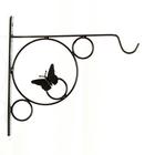 Кронштейн для цветов, 30 × 2 × 30 см, металл, чёрный