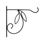 Кронштейн для цветов, 25 × 1,6 × 25 см, металл, чёрный