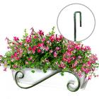 Подставка для цветов балконная, 56 × 26 × 20 см, металл, зелёная