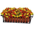 Подставка для цветов балконная, 82 × 23 × 13 см, металл, цвет бронзовый