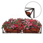 Подставка для цветов балконная, 102 × 23 × 21 см, металл, цвет бронзовый