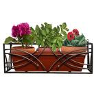 Подставка для цветов балконная, 66 × 22 × 20 см, металл, цвет бронзовый