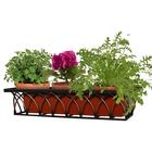 Подставка для цветов балконная, 82 × 23 × 19 см, металл, цвет бронзовый