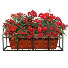 Подставка для цветов балконная, 66 × 29 × 26 см, металл, цвет бронзовый