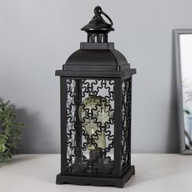 "Ночник ""Домашний фонарь"" LED черный 13,5х13,5х39 см."