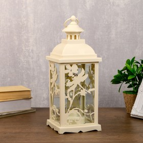 """Ночник """"Фонарь и природа"""" LED белый 13,5х13,5х39 см."""