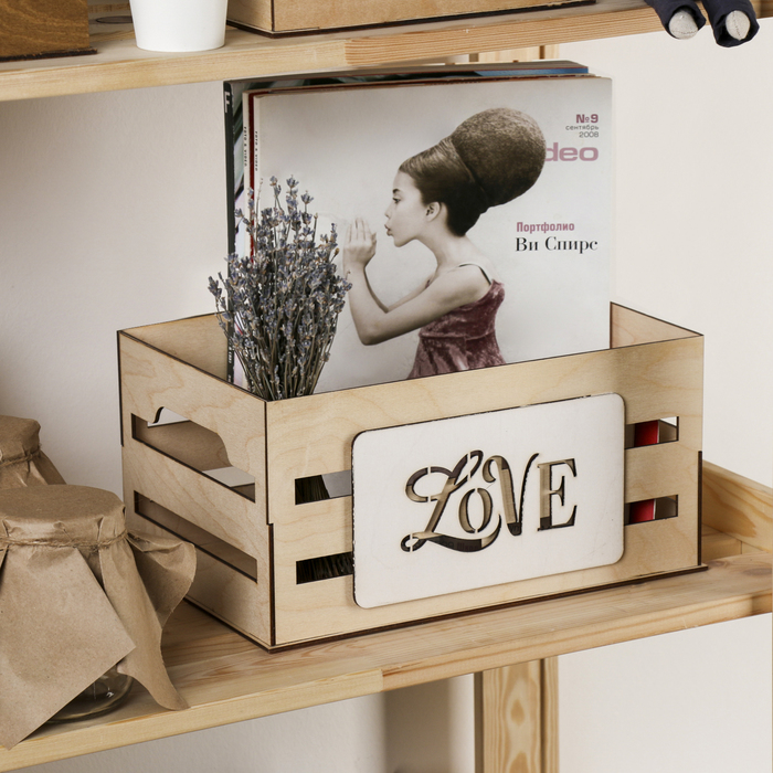 Ящик для хранения Love, 300 × 150 × 200 мм