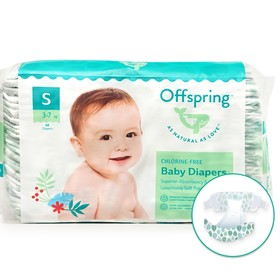 Offspring diapers, size S (3-7 kg) coloring Leaflets, 48 pcs.