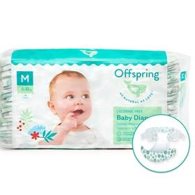 Offspring diapers, size M (6-10 kg) colors Leaflets, 42 pcs.