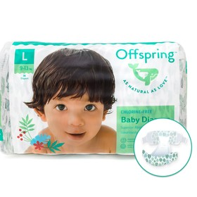 Offspring diapers, size L (9-13 kg) coloring Leaflets, 36 pcs.