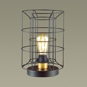 Настольная лампа RUPERT 1x60Вт E27 чёрный