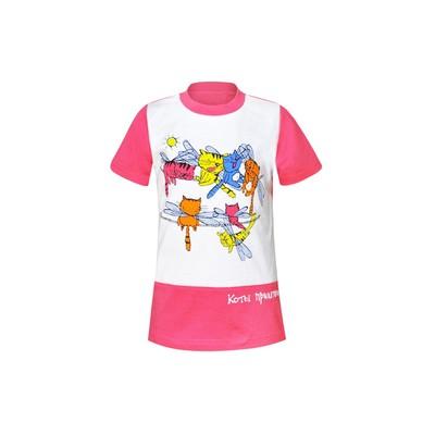 Футболка для девочки, цвет розовый, рост 98 см