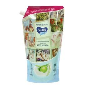 Жидкое мыло Aura с антибактериальным эффектом Олива и сок алоэ, 1 л.