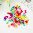 """Набор бусин для творчества пластик """"Яркие бантики"""" набор 120 шт 0,2х1х0,7 см - фото 412915"""