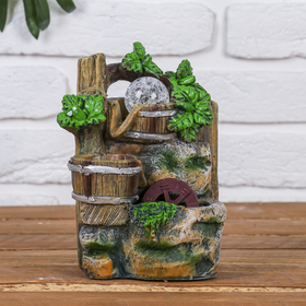 """Fountain """"Cool forests"""" 12*12*18 cm (with lighting)"""