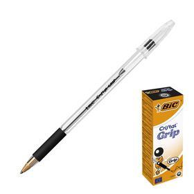 Ручка шариковая, тонкое письмо, чернила чёрные, BIC Cristal Grip