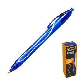 Ручка гелевая, автоматическая, синяя, резиновый упор, BIC Gel-ocity Quick Dry