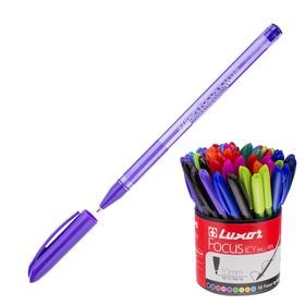 Ручка шариковая Luxor Focus Icy, узел 1.0 мм, чернила и корпус микс