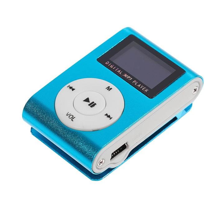 Плеер MP3 Luazon LMP-02 с экраном, на прищепке, разъём для Tf карт, miniusb, 3,5 jack, МИКС