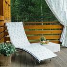 Подушка на шезлонг «Этель» Листья 55×190+2 см, репс с пропиткой ВМГО, 100% хлопок