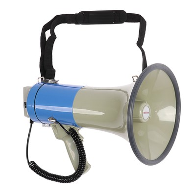 Мегафон ручной TerraSound MG-220/blue, 25 Вт, сирена, разъем 12 В. синий